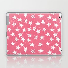 Linocut Stars- Blush & White Laptop & iPad Skin