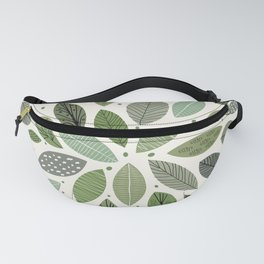 Mid-Century Green Leaves Fanny Pack