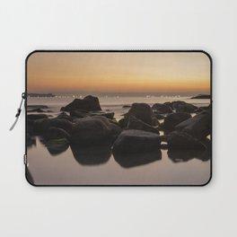 Rocky Ocean Sunrise Laptop Sleeve