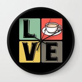Coffee Coffee Cup Cappuccino - Love Wall Clock