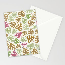 Monstera Doodles in Natural Stationery Cards