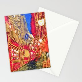 Cobbled old street in London Stationery Cards