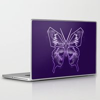 battlestar galactica Laptop & iPad Skins featuring Galactica Purple Butterfly by Tiffany 10