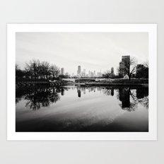 Chicago Skyline from South Pond Art Print