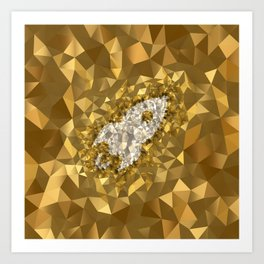 POLYNOID Rocket / Gold Edition Art Print