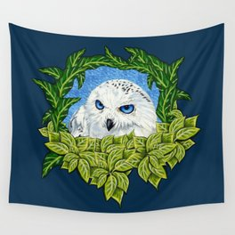 Mister Blue Eyes (Snowy Owl) Wall Tapestry