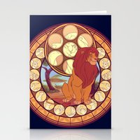 simba Stationery Cards featuring Simba by NicoleGrahamART