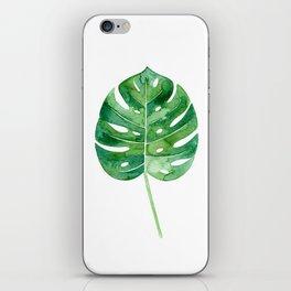 Philodendron Leaf Watercolor iPhone Skin