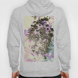 Grey & Purple Blooms Hoody