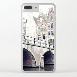 Amsterdam Canals Clear iPhone Case