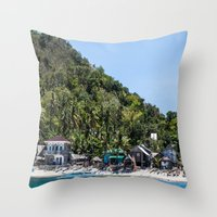 philippines Throw Pillows featuring Apo Island Philippines by Jennifer Stinson