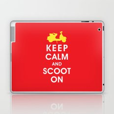 Keep Calm and Scoot On (For the Love of Scooters) Laptop & iPad Skin