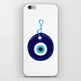 Turkish Blue Eye Bead iPhone Skin