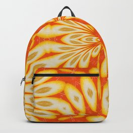 Citrus Lemon Slices and Orange Juice Floral Pattern Backpack