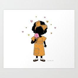 Sister Eats Ice Cream... Art Print