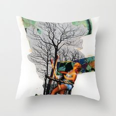 Rape of Aurora | Collage Throw Pillow