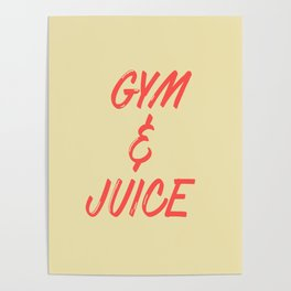 GYM & JUICE Poster