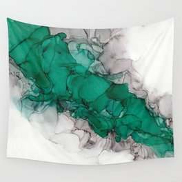 Study in Green Wall Tapestry
