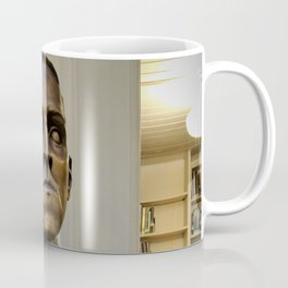 H.P. Lovecraft Master of Horror & Cthulhu Copper Bust at Providence Athenaeum Library  Coffee Mug