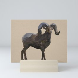 The Rocky Mountain Bighorn Sheep Mini Art Print