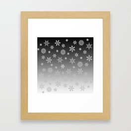 Snow Flurries Framed Art Print