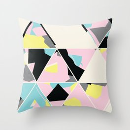 triangle no.3 / with love Throw Pillow