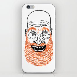 beardy iPhone Skin