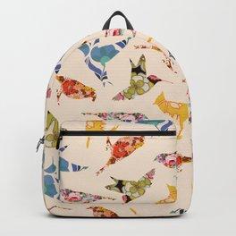 Vintage Wallpaper Birds Backpack