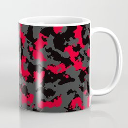 texture military Camouflage red black olive colors forest texture Coffee Mug