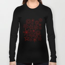 Red and gold snowflakes Long Sleeve T-shirt
