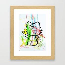 Mr. Scribbles Framed Art Print