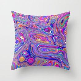 Neon melt Throw Pillow