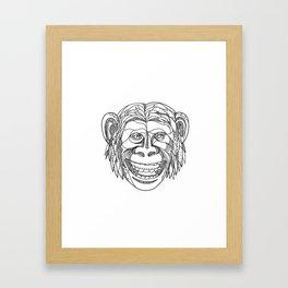 Humanzee Smiling Doodle Framed Art Print