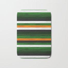 Orange and Green Patchwork 2 Bath Mat