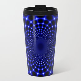 Indigo lotus abstract Travel Mug
