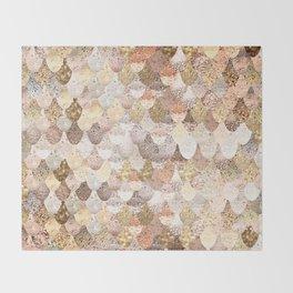MERMAID GOLD Throw Blanket