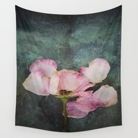 depression Wall Tapestries featuring Wilted Rose II by Maria Heyens