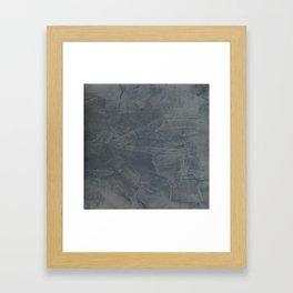 Slate Gray Stucco - Faux Finishes - Rustic Glam - Corbin Henry Venetian Plaster Framed Art Print