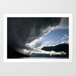 There's a storm brewing! Art Print