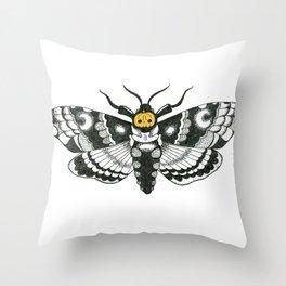 Halloween Death Moth Throw Pillow