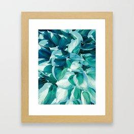 Botanic leafage Framed Art Print