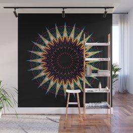 Futuristic Zen Mandala Wall Mural