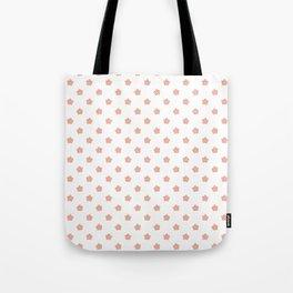 Polka Flower Spring Dots Tote Bag