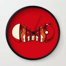 Poketryoshka - Fire Type Wall Clock