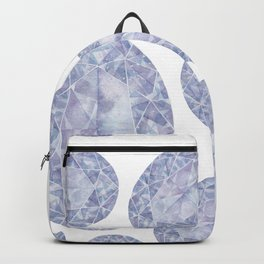 Purple Oval Gem Pattern Backpack