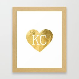 KANSAS LOVE 3 Framed Art Print