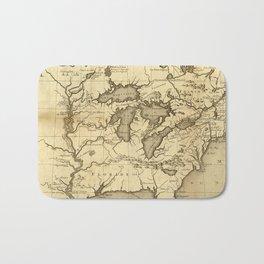 Great Lakes Map - 1737 Bath Mat