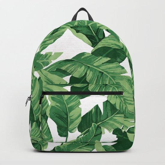 Tropical banana leaves IV Backpack