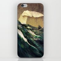 storm iPhone & iPod Skins featuring Moby Dick by Rachael Shankman