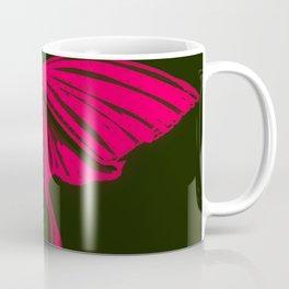 Red and Black Luna Moth Butterfly Coffee Mug